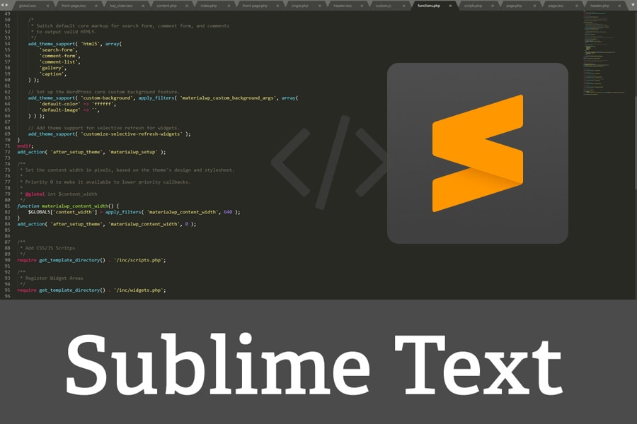Sublime Text – edytor kodu dla webmastera